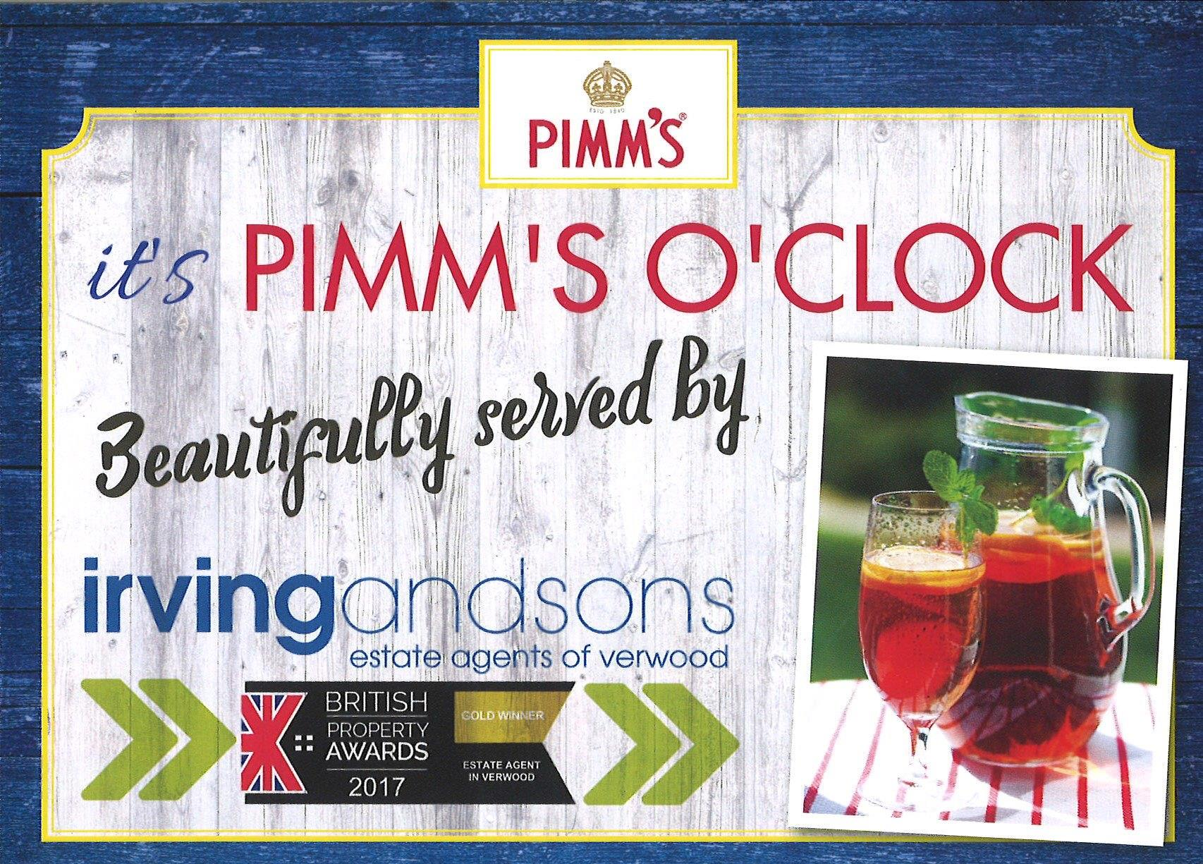 It's Pimm's O'Clock at the Rustic Fayre!