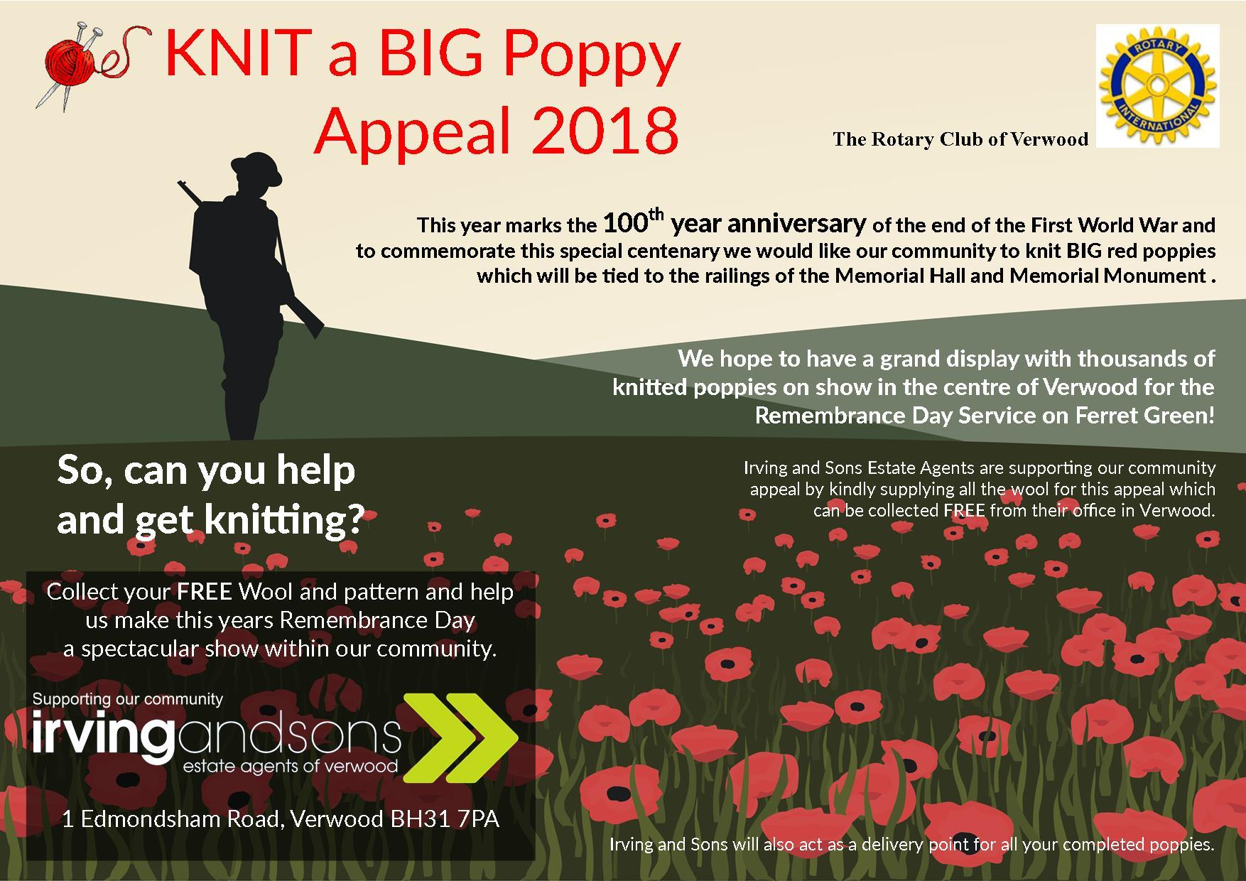 Remembrance Day Poppy Appeal 2018
